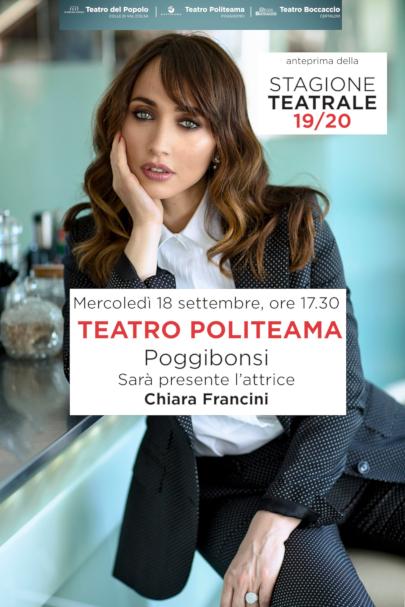Anteprima Stagione Teatrale 2019-20 – Ospite Chiara Francini